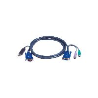 Aten 2L-5506UP KVM Kombikabel, PS/2 St./USB St., S-VGA St./Bu., 6,0 m