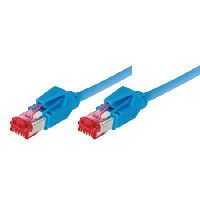 Tecline 73615B Patchkabel S/FTP, PiMF, CAT.6A EIA/TIA, Class EA, blau,